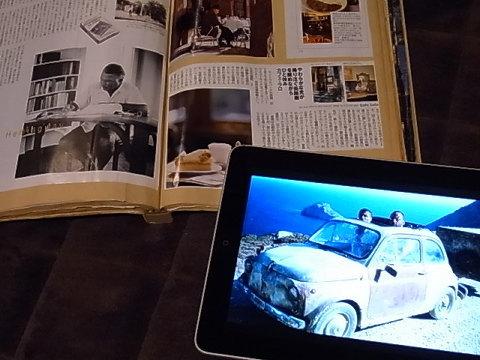 今の私はi padをスクラップブック的に活用している。大量の切抜きををモバイル出来るスクラップブック。ウェブ上の気に入った画像をi photoに落としテーマ別に分類し楽しんでいる。それに、このスクラップブックには音楽や動画もスクラップできる。当たり前のことだが、私にはそんな感覚なのだ。