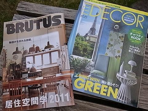 最近はこの2冊を購入。エルデコはブエノスアイレスの家とサントロペの夏の隠れ家が良い。ブルータスは陶芸家の黒い家、トラックファニチャーの自宅、NYブルックリンのセルフリノベの建物が印象深い。