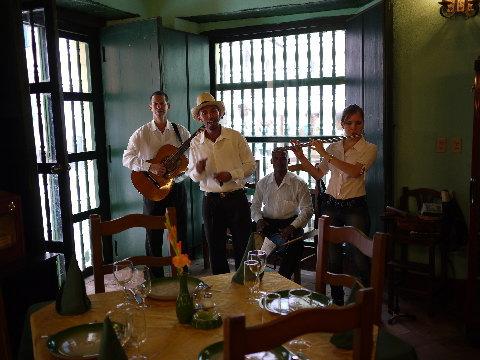 OLD HAVANAのレストラン「LA PAELLA」。ここのパエリアは美味かった。