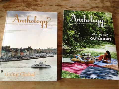 サンフランシスコ発のライフスタイル誌「Anthology」は蔦屋書店で見つけた私のお気に入り。サンドカフェに置いてあります。