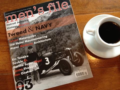 蔦屋書店で見つけたブライアンが表紙のイギリスの雑誌「men's file」。イギリス版フリー&イージーと言ったところ。