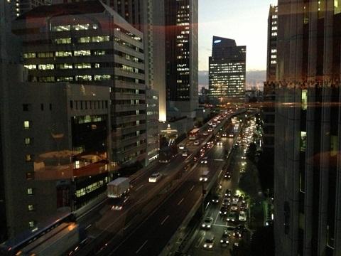 この窓からの眺めがニューヨークみたいと言うお客が多いらしい。