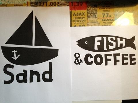 今年はこの2種類のデザインで行きます。「Deck Shoes」と「散歩カフェ」にあります。