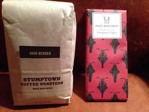マストブラザーズのチョコとスタンプタウンの珈琲豆がお土産って気が利いてるね!