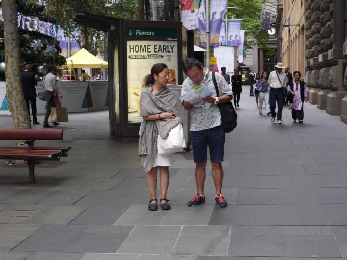 頼りになる佐藤さん。シドニーでも地図で私達を誘導してくれました。また御一緒して下さい。
