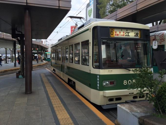 路面電車が走る町ってイイですね。広島駅でレンタカーを借り尾道に向かった。